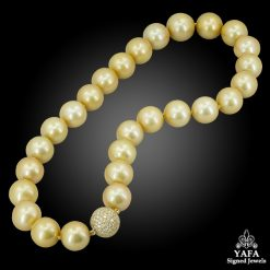 South Sea Pearl Diamond Bead Necklace
