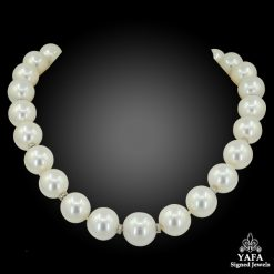 Twenty Three White South Sea Pearl Necklace