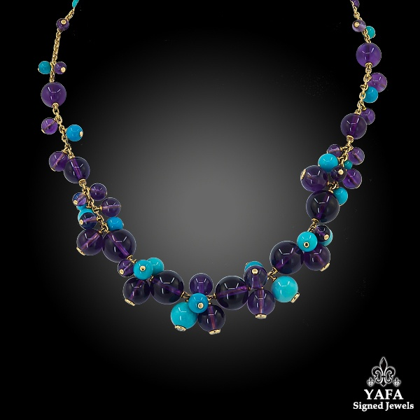 CARTIER Turquoise, Amethyst, Diamond Delice de Goa Necklace