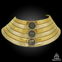 BULGARI Three-Coin, Diamond Cuff Choker Necklace