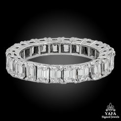 Diamond Emerald Cut Eternity Band Ring