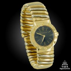 BULGARI Two-Tone Gold Cuff Wrist Watch