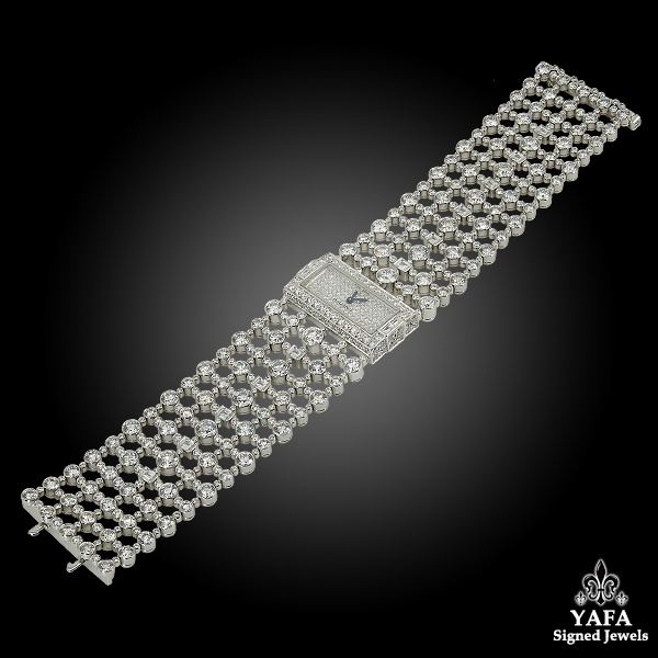 CARTIER Diamond Link Gold Watch