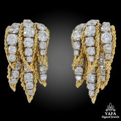1970s VAN CLEEF & ARPELS Diamond Ear Clips