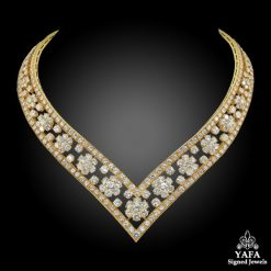VAN CLEEF & ARPELS Diamond Snowflakes Necklace
