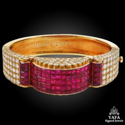VAN CLEEF & ARPELS Diamond, Mystery-Set Ruby Gold Bracelet
