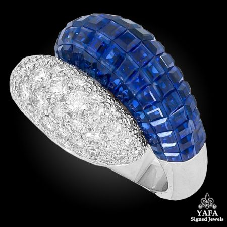 VAN CLEEF & ARPELS Mystery Set™ Double Boule Sapphire Ring