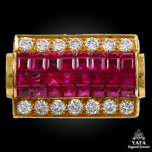 VAN CLEEF & ARPELS Diamond, Ruby Mystery-set Ring