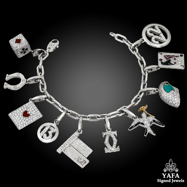 CARTIER Ten-Charm Gold Bracelet