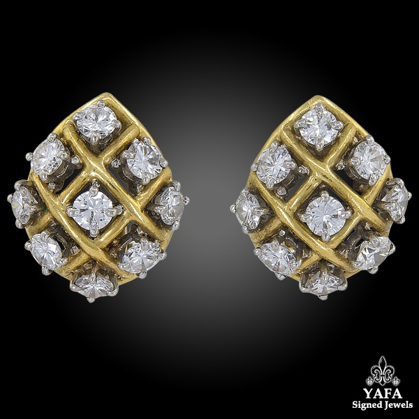 BULGARI Diamond Gold Ear Clips