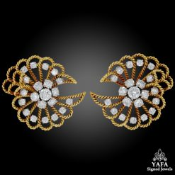 VAN CLEEF & ARPELS Retro Diamond Ear Clips