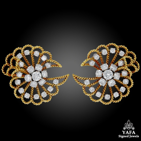 VAN CLEEF & ARPELS Retro Diamond Earrings