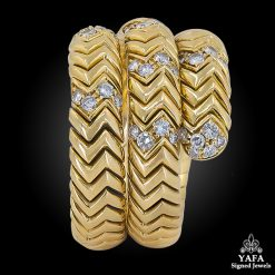BULGARI Diamond Serpenti Ring - Sz 8