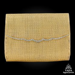 VAN CLEEF & ARPELS Diamond Evening Gold Bag