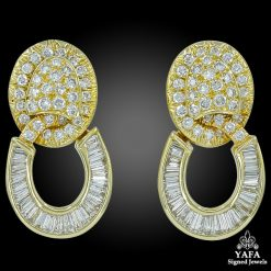 DAVID WEBB Diamond Hoop Ear Clips