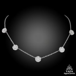 OSCAR HEYMAN Diamond Flower Necklace