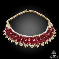 VAN CLEEF & ARPELS Burmese Ruby Diamond Necklace