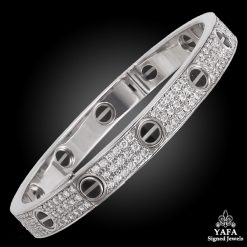CARTIER Diamond Ceramic Love Bracelet
