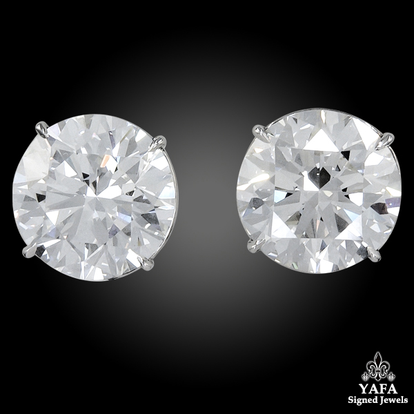 Contemporary Diamond Stud Earrings 12.16 cts