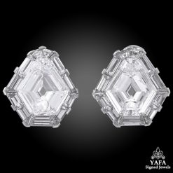 CARTIER Diamond Shield Stud Earrings 13.44 cts