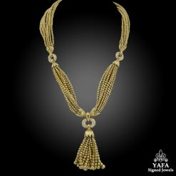 VAN CLEEF & ARPELS Diamond Sautoir Tassel Necklace