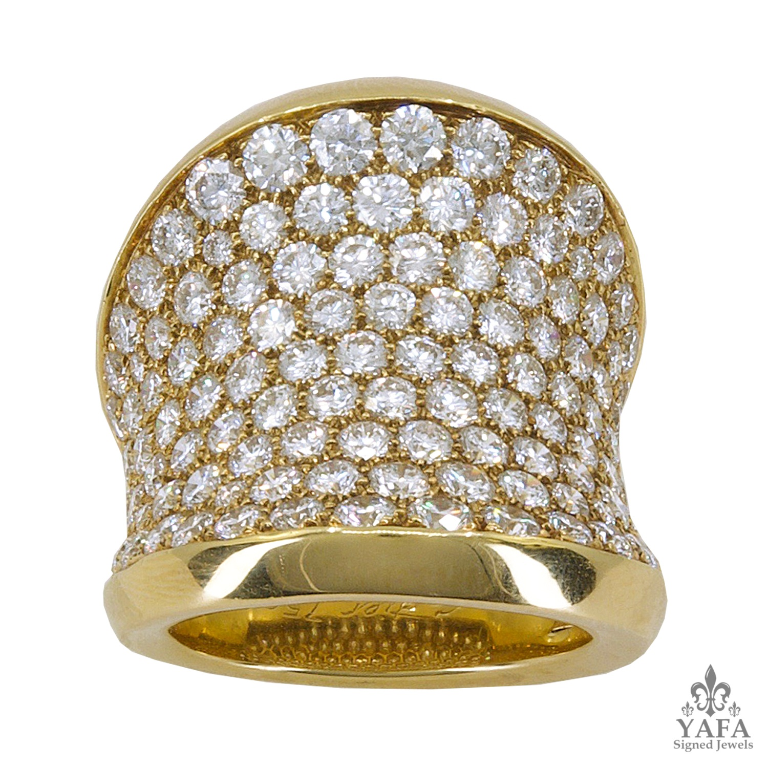 CARTIER Chalice Diamond Ring Gold