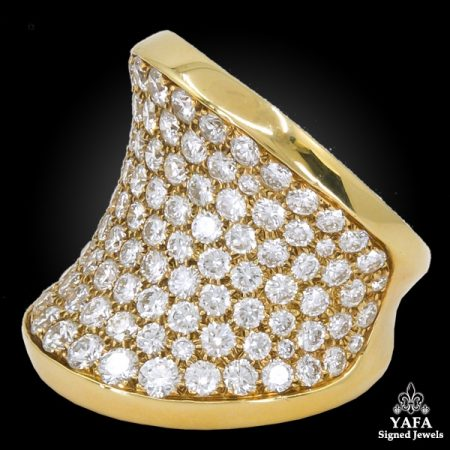 CARTIER Diamond Chalice Cocktail Ring Gold