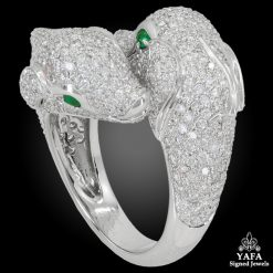 CARTIER Diamond Dolphin Bypass Ring