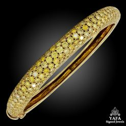 VAN CLEEF & ARPELS Yellow Diamond Bangle Bracelet