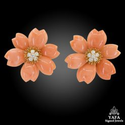 VAN CLEEF & ARPELS Rose de Noël™ Coral Earrings Medium