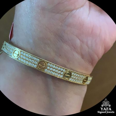 CARTIER Love Diamond Paved Bracelet
