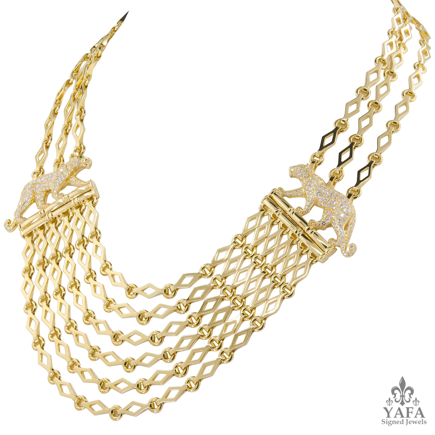 CARTIER Panthere Festoon Link Necklace