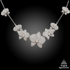 CARTIER Diamond Caresse D' Orchidees Necklace