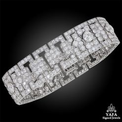 CARTIER Diamond Platinum Bracelet