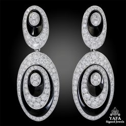 CARTIER Diamond Hypnose Pendant Earrings