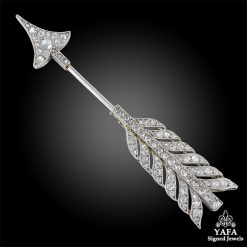 CARTIER Diamond Arrow Brooch