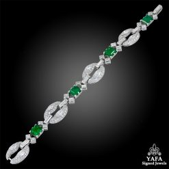 BULGARI Diamond, Colombian Emerald Bracelet