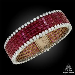 VAN CLEEF & ARPELS Diamond Ruby Mystery-Set Bracelet