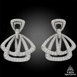 DAVID WEBB Diamond Cosmos Earrings