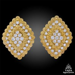 VAN CLEEF & ARPELS Lozenge Motifs Diamond Earrings