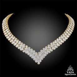 VAN CLEEF & ARPELS Diamond Cheval Necklace/Bracelet