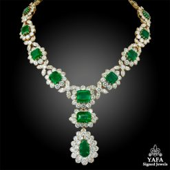 BULGARI Colombian Emerald, Diamond Detachable Necklace