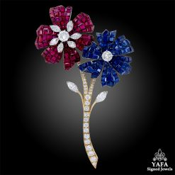 VAN CLEEF & ARPELS Mystery-set Flower Brooch