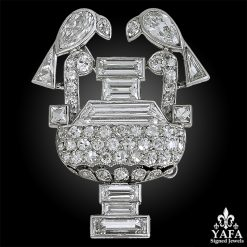 CARTIER Diamond Amphora Brooch