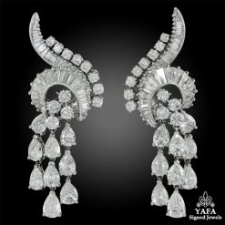 HARRY WINSTON Pear, Baguette-Shaped Diamond Earrings